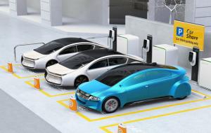 Digital EV Charging Parking lot